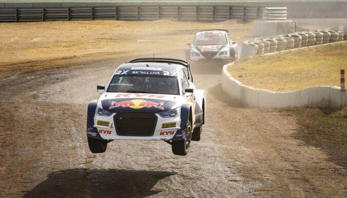 Brāļiem Hanseniem dubultuzvara 'World RX' sezonas ievadā Katalonijā