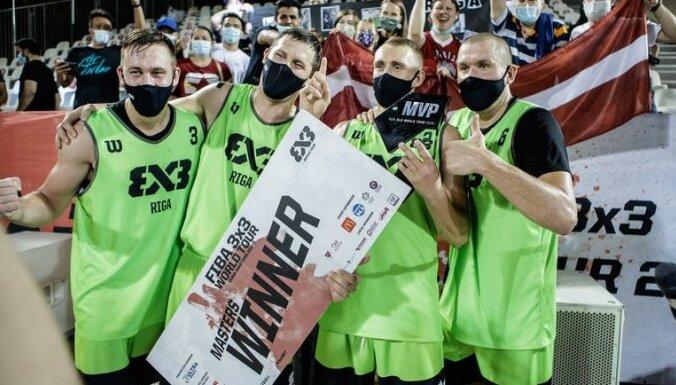 'Riga' 3x3 basketbola komanda Pasaules tūres posmā Dohā izcīna uzvaru