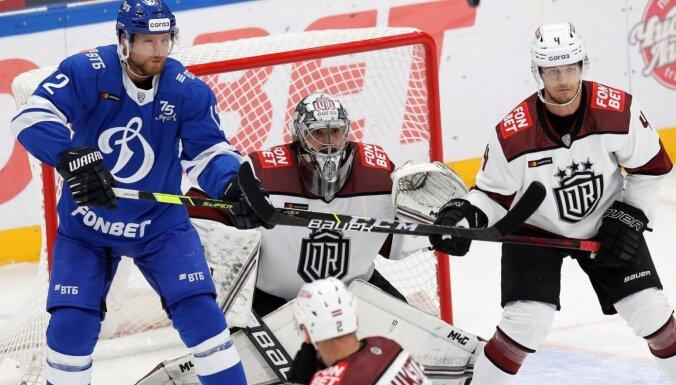 Video: Rīgas 'Dinamo' vārtsargs Mahovskis izcēlies ar nedēļas labāko tvērienu KHL