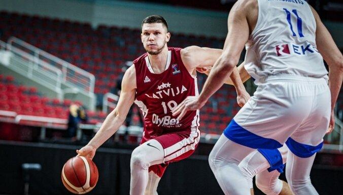 Latvijas vīriešu basketbola izlase Pasaules kausa pirmskvalifikācijā tiksies ar Rumāniju un Baltkrieviju