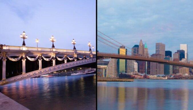 Parīzes un Ņujorkas līdzība - 'Timelapse' videoprojekts
