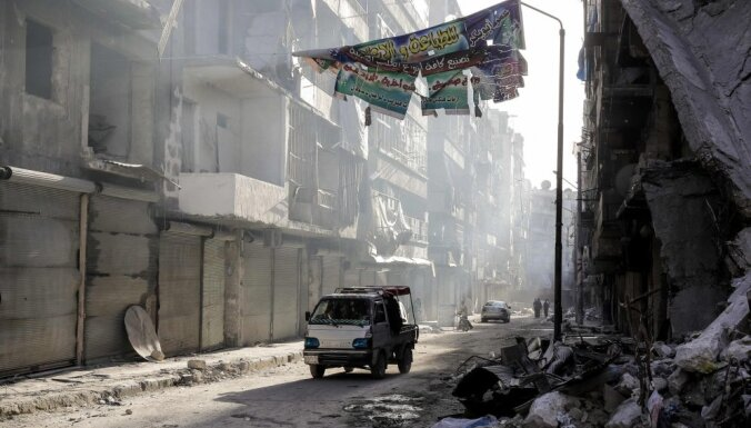 Damaskas tiesā sprādziens paņem vismaz 25 dzīvības