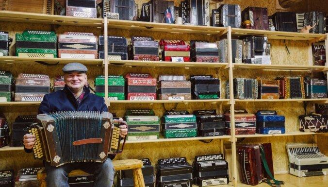 Skanīgs mūzikas instrumentu muzejs Gaigalavā