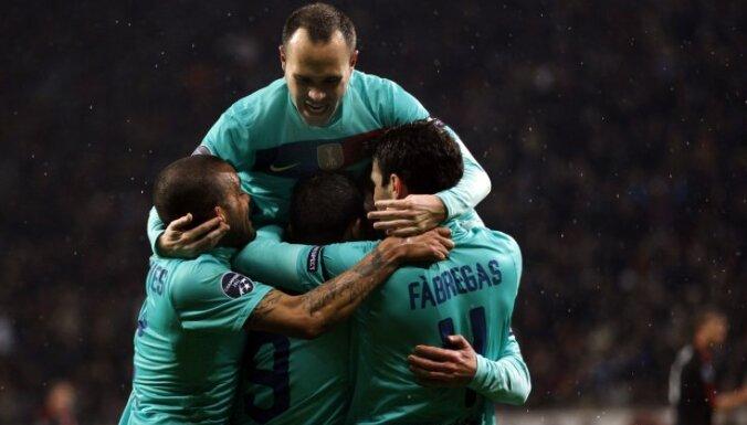 'Barcelona' pēc uzvaras viesos pietuvojas Čempionu līgas ceturtdaļfinālam