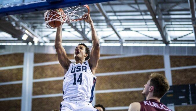 Latvijas U-19 izlases galvenais treneris Visockis-Rubenis izceļ ASV milzīgo fizisko pārsvaru