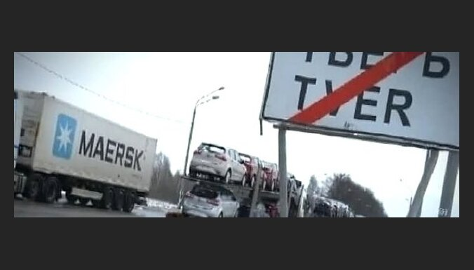 Мега-пробка на российской трассе растянулась на 200км (видео)