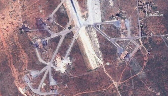 Сирийские истребители возвращаются на разбомбленную американцами авиабазу