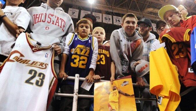 Lebrona Džeimsa krekliņi - populārākie NBA fanu vidū
