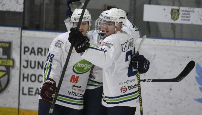 'Mogo'/LSPA un HS 'Rīga' hokejisti izcīna uzvaru Latvijas čempionāta spēlēs