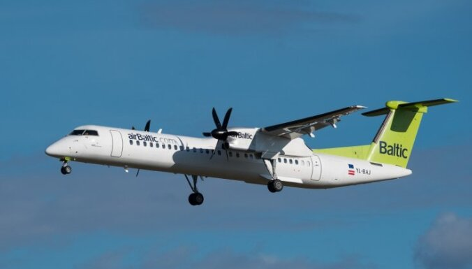 Ложная тревога на борту самолета airBaltic: Bombardier вернули в Мюнхен