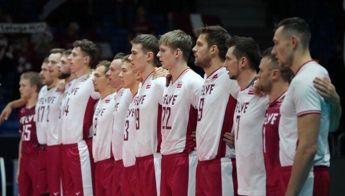 Latvijas volejbola izlase Eiropas čempionātu noslēdz 16. pozīcijā