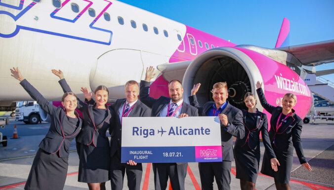 """Wizz Air открыла """"курортный"""" маршрут Рига - Аликанте"""