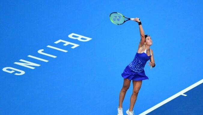 Sevastova fantastiskā Pekinas turnīra fināla mačā piekāpjas Vozņacki