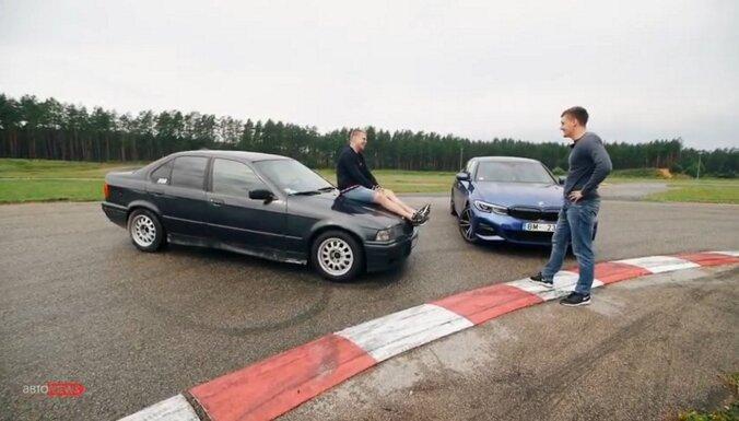 """ВИДЕО: Новая BMW """"трёшка"""" против """"крысы"""""""