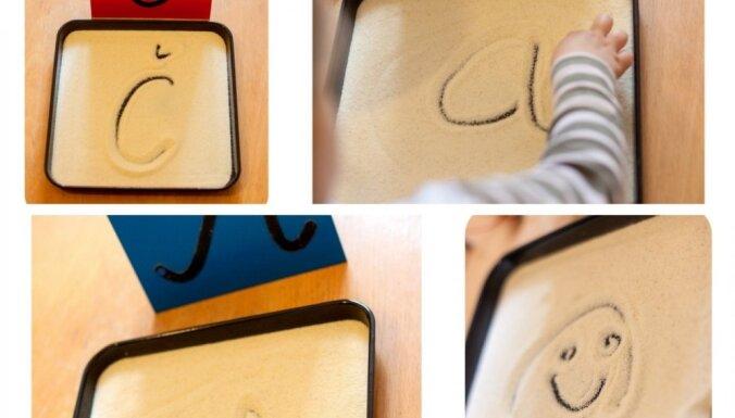Daudzbērnu mammas Evelīnas metode, kā ar mannas putraimiem mācīt bērniem rakstīt