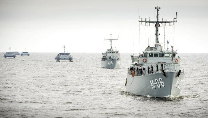 Rīgas jūras līcī notiks militāro kuģu parāde