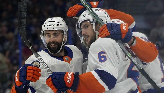 'Islanders' Stenlija kausa pusfināla ievadā nosargā uzvaru pār 'Lightning'