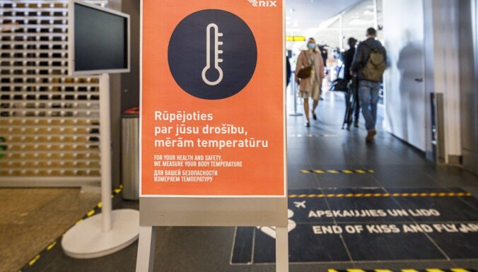 """С сегодняшнего дня в аэропорту """"Рига"""" возобновлены проверки QR-кодов для системы Covidpass"""