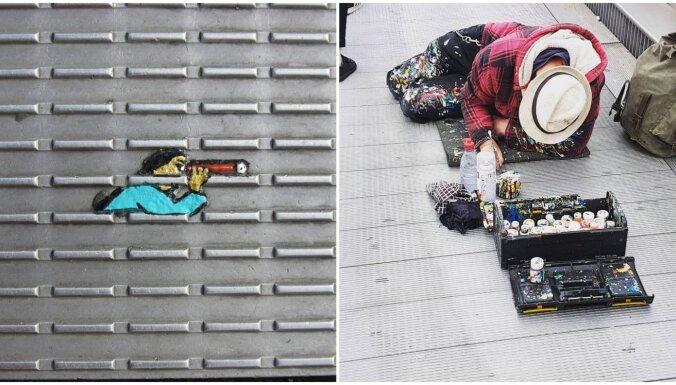 Māksla uz atkritumiem: Londonā uz nomestām košļājamajām gumijām top zīmējumi