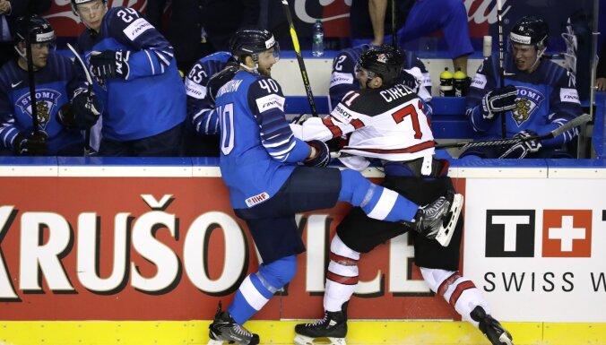 Kanādas un Somijas hokejisti cīnās par pasaules čempionu titulu