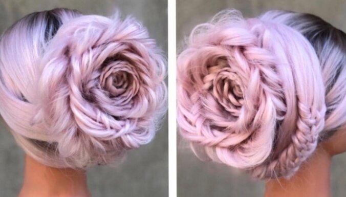 ФОТО. Модницы примеряют на себя прически с розами из волос