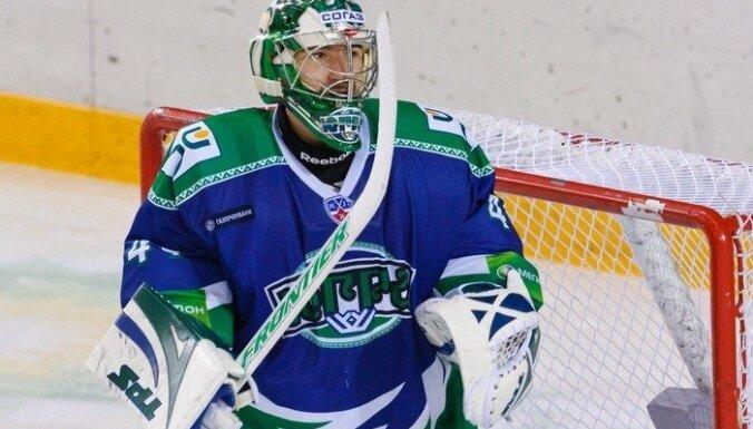 Masaļskis iekļuvis KHL nedēļas skaistāko atvairīto metienu TOP 10