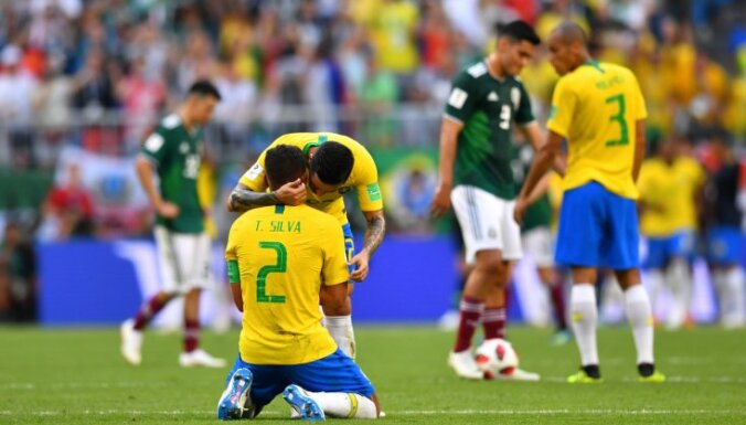 Бразилия после победы над Мексикой в 1/8 финала стала рекордсменом по голам