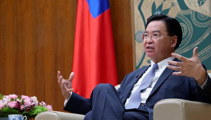 Ķīnas ekonomiskās izaugsmes palēnināšanās var radīt draudus Taivānai, brīdina ministrs