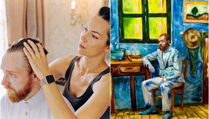 Foto: Latviešu grima māksliniece iedzīvina gleznu