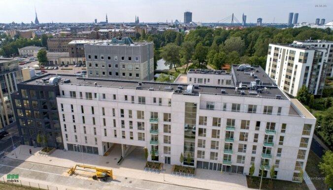 В Тихом центре Риги сдан в эксплуатацию первый дом нового жилого квартала