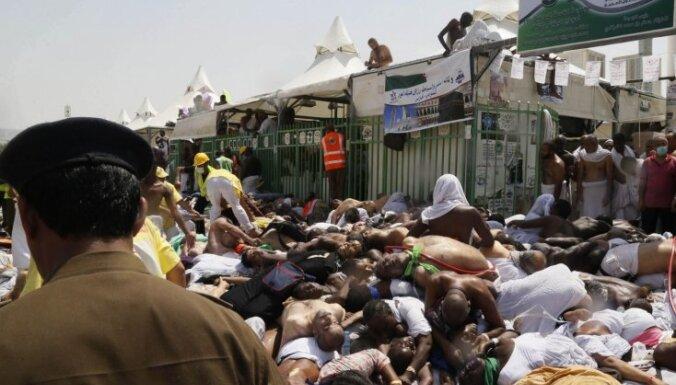 Svētceļnieku drūzmā Saūda Arābijā bojāgājušo skaits pieaudzis līdz 2411 cilvēkiem