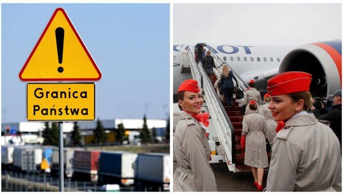 Covid-19: Polija pagarina robežas slēgšanu, Krievija aptur starptautisko aviosatiksmi