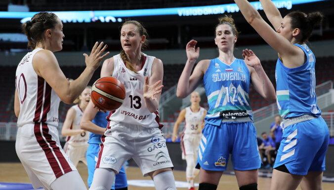 Latvijas basketbolistes pēdējā pārbaudes spēlē pirms Eiropas čempionāta piekāpjas Slovēnijai