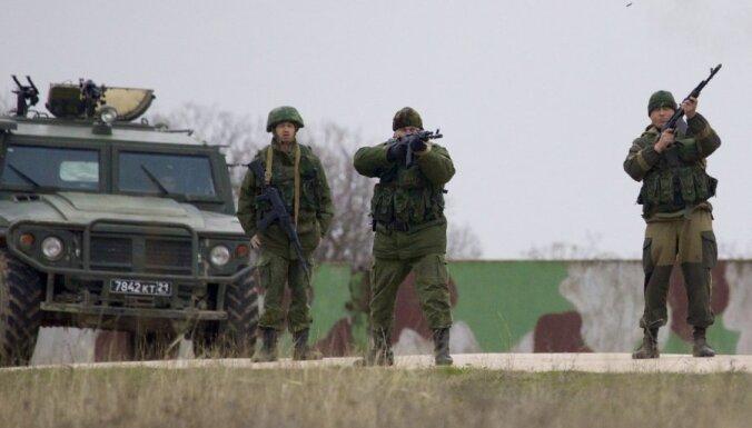Krievijas spēkiem neizdodas ieņemt Ukrainas karaspēka vienības štābu Sevastopolē