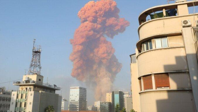 Foto: Divos sprādzienos Beirūtā vismaz 78 bojāgājušie