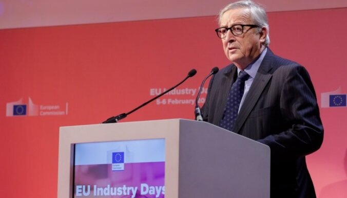 Lielbritānijas dalība EP vēlēšanās būtu 'vēstures joks', paziņo Junkers