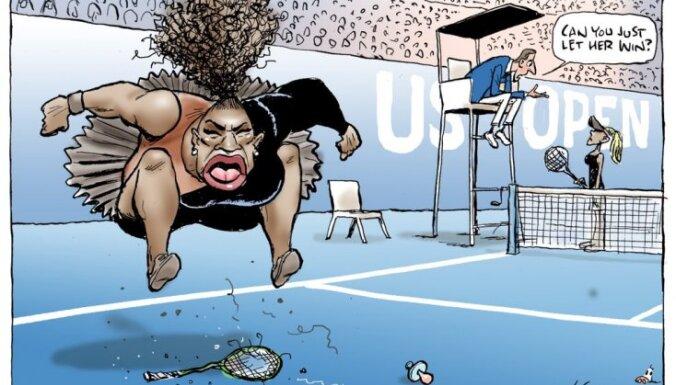 Карикатура на Серену Уильямс в образе капризной девчонки вызвала скандал