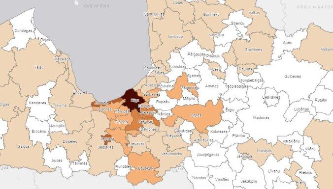 Covid-19 Latvijā: Saslimšana reģistrēta arī Burtnieku, Salacgrīvas un Alsungas novadā
