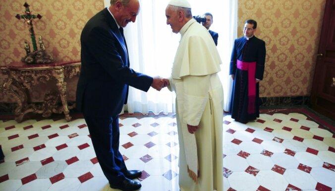 ФОТО: Берзиньш встретился c Папой Римским Франциском