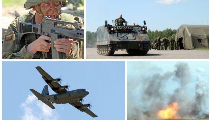 Foto: Lietuvas un ASV karavīri aizvada iespaidīgas militārās mācības 'Melnā bulta 2014'