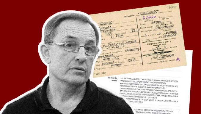 'Maisi vaļā': 'Aleksandrs' ziņo par 'Radio Brīvība' žurnālistu; Jakovļevs: ar VDK kontaktējos, nebiju aģents