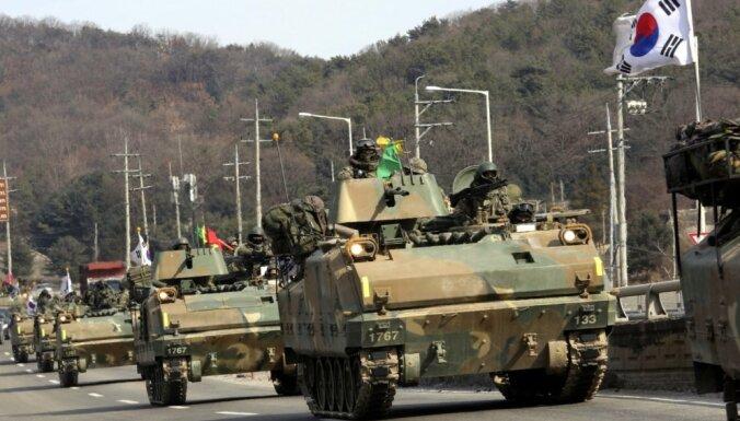 Sākušās ASV un Dienvidkorejas militārās mācības