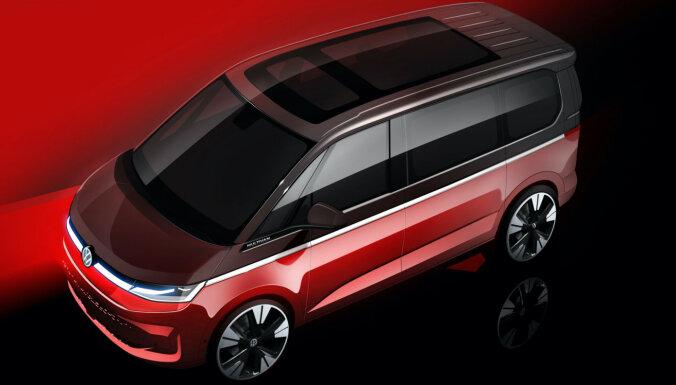VW demonstrē jaunā 'Multivan' skices; pirmizrāde jau jūnijā