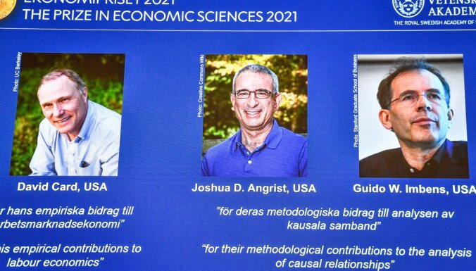 Nobela prēmija ekonomikā piešķirta par pētījumiem darba ekonomikā un cēlonisko attiecību analīzi