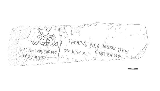 Cēsu pilī atrasts unikāls 16. gadsimta uzraksts