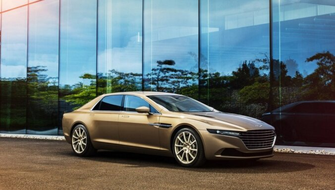 Arābiem 'Aston Martin' prezentē 'bezierunu greznu' sedanu