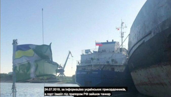 Ukraina aizturējusi Krievijas tankkuģi