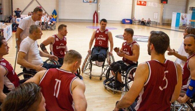 Latvijas ratiņbasketbolistu izlase gatavojas Eiropas čempionātam