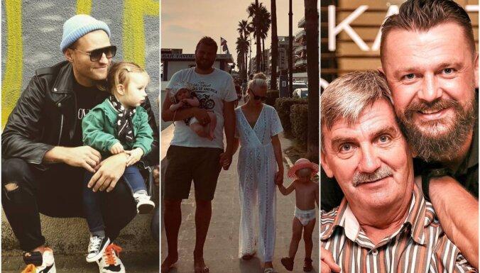 Sirsnīgi foto: Kā populāri latvieši Tēva dienu godināja