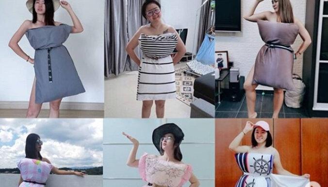 ФОТО. Платье от Карантино: как одеяла и подушки превратились в модный тренд